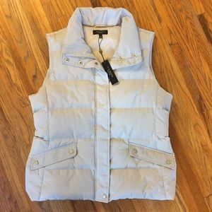 Talbots down puffer vest, grey, sweater, gift